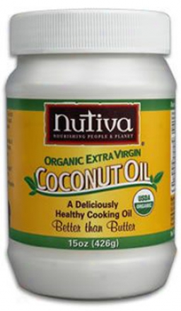 Nutiva Organic Coconut Oil Dog & Cat Supplement 15 Oz