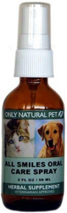 Only Natural Pet All Smiles Oral Care Spray 2O z