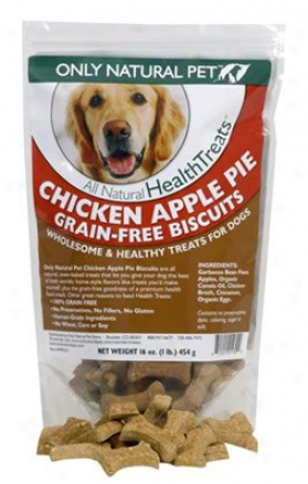 Only Natural Pet Biscuit Chicken Apple Pie 1 Lb