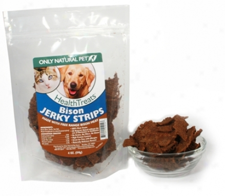 Only Naural Pet Bison Jerky Strips 4 Oz