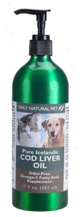 Only Natural Favorite Cod Liver Oil Dog & Cat 17 Oz
