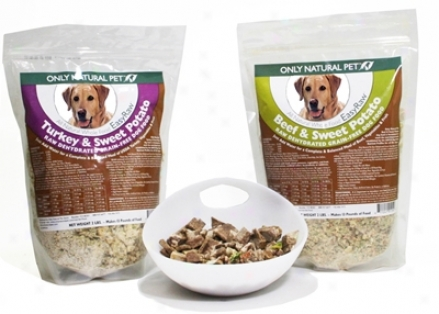 Singly Natural Pet Easyraw Beef & Sweet Potato 8 Lbs