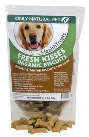 Only Natural Pet Fresh Kisses Dog Biscuits 1 Lb