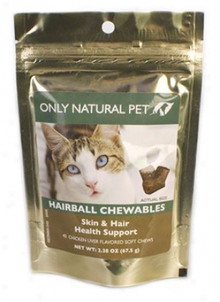 Only Natural Pet Hairball Chewables 45 Soft Chews