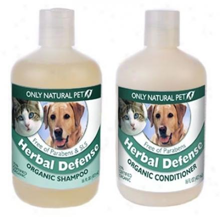 Only Natural Pet Herbal Defense Shampoo 16 Oz