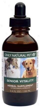 Onlg Natiral Pet Senior Herbal Formula 4 Oz