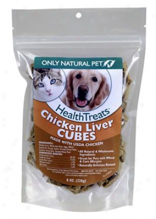 Onp Healthtreats Chicken Liver Cubes 8 Oz 3 Pack