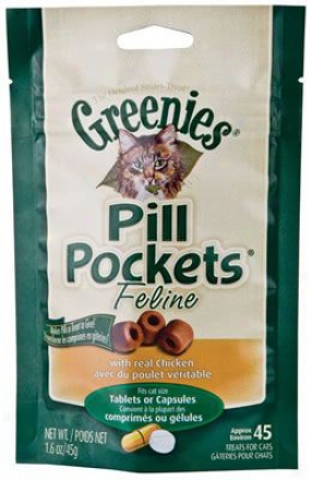 Pill Pockets Cat Treats Chicken 1.6 Oz