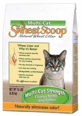 Swheat Scoop Multi-at Natural Wheat Litter 14 Lb.