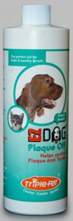 Triple Pet Plaque Off Freh Breath 8 Fl Oz