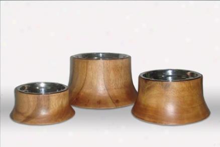 Unleashed Life Dog Bowls Acacia S (ss)