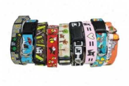 Wagging Green Ste Martingale Collar Mod S (ss)