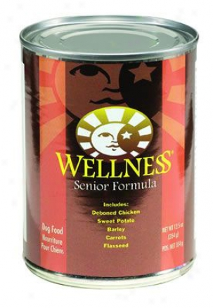 Wellness Senior Formula Canned Dog Food 6 Oz Case 24