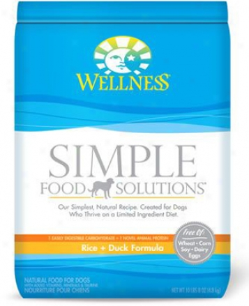 Wellness Simple Solutions Dry Dog Duck 26 Lbs