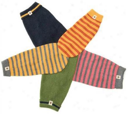 West Paw Eco Reknitz Sweater - 12, Pink Stripe (ss)