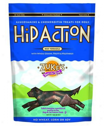 Zukes Hip Action Dog Treats Peanut Butter 6 Oz