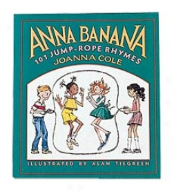 13-1/2&suot; Blue Striped Jump Rope With 2 Loop Handles And Jumping Rhymes