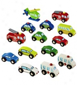 14-piece Wheel Town Vehicles Set