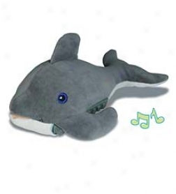 "15-1/2"" Battery Operated Plush Dozy Dolphin Sleep Machine"