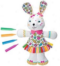 "16""h Color Me Bunny"