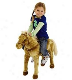 "22"" Sit-on Palomino Horse"