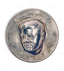 3-d Jfk Half Dollar U.s. Collector Coin