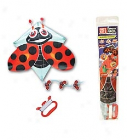 3-d Pop-up Ladybug Diamond Kite
