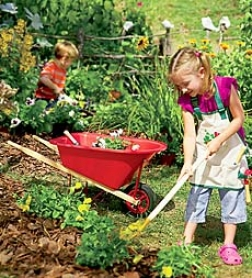 Wheelbarrow And Long-handled Tool Set Children's Gardening Specialsave $9.98 On The Special!