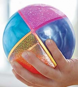"4"" Diameter Four-part Patterned Quad Ball"