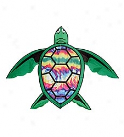 "50"" Diameter Durable Rip Stop Nylon Flying Tie Dye Turtle"