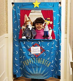 "50"" Durable Cotton Twill Doorway Puppet Theater"