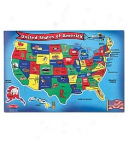 51-piece Usa Map Floor Puzzle