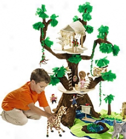 62-piece Wood And Fabric Fantasy Adventurers' Tropica lTree House Play Place By the side of Free Gift