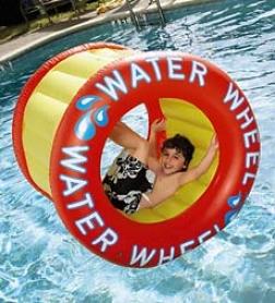 Long-lasting Heavy-duty Vinyl Floatable Water Wheel Pool Toy