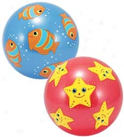 "8-1/2"" Diameter Set Of 2 Bouncing Summr Fun Play Balls"