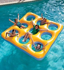 "80""sq. Inflatable Labyrinth Island Pool Float"