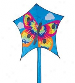 "93"" Easy-to-assemble Tie Dye Butterfly Kite"