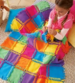 Alex Toys Fleece Knot-a-quilt Kit