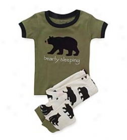 Bab6 Bear Greeh Pajamas