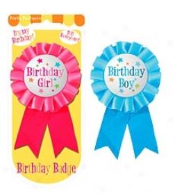 Birthday Boy//girl Birthday Badge
