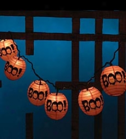 Boo! Paper Lantern String Lights