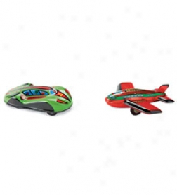 Car And Plane Set, Set Of 2