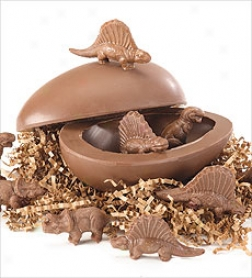 Chocolate Dinosauf Egg, 10 Oz.