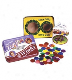 Classic Tin Tiddly Winks Game