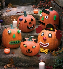 Colorful Wooden Pumpkin Decorating Kit