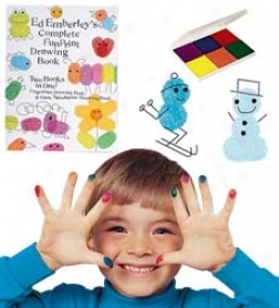 Complete Fun Print Drawing Book Through  6 Color Coin Pad