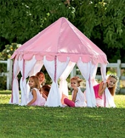 Cotton Canvas Pink Party Pavilion Play Tent