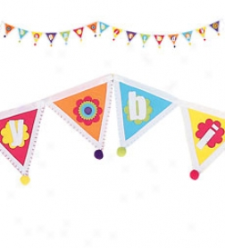 Crafted Felt Prnnet Happy Birthday Banner