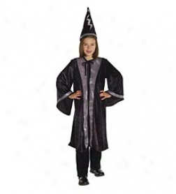 Deluxe Wizard Cape And Hat Costume Set