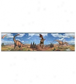 Dinosaur Peel & Pierce Repositionable Wall Decal Border